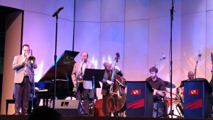 """Playing """"Stablemates"""" with the man himself! With Benny Golson, Lewis Nash, Tom Wakeling and Mike Kocour. ASU, March 2015"""